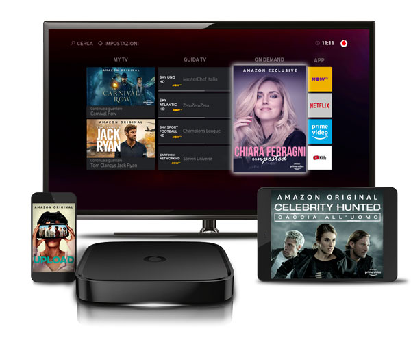 Vodafone TV, sulla piattaforma da oggi disponibile Prime Video di Amazon