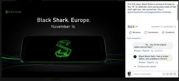 Black Shark Helo Italia