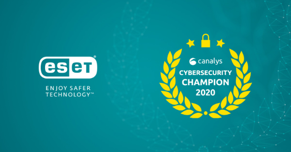 eset canalys award 2020 cybersecurity