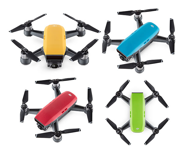 DJI Spark, il minidrone colorato