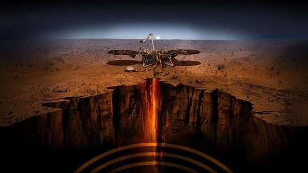 NASA InSight sonda atterraggio prove