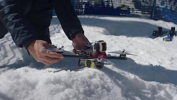 Drone vs Sciatore Salomon TV