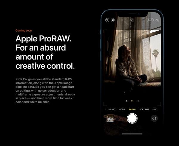 apple proraw iphone