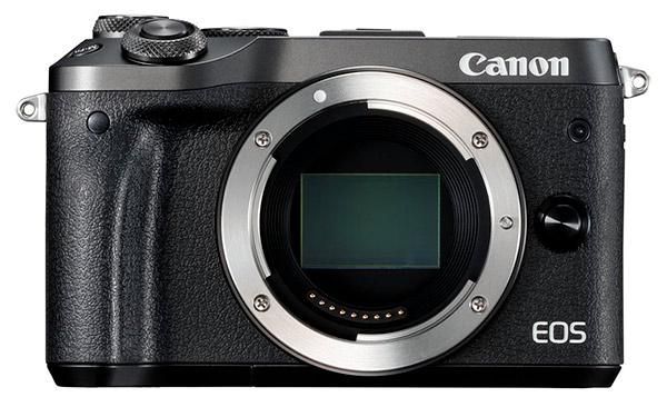 Una Canon EOS M6 a cui abbiamo appiccicato con Photoshop il sensore della reflex Full Frame EOS 6D Mark II