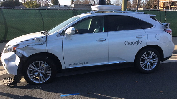 Google Car, incidente stradale