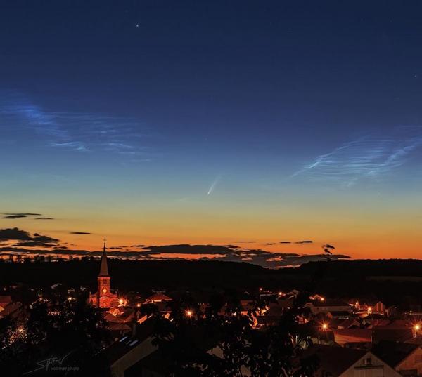 cometa neowise foto