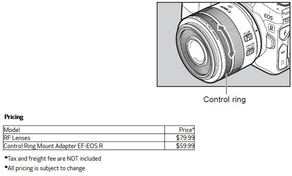 Canon RF obiettivi