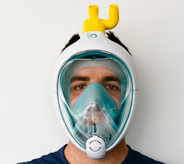 Coronavirus, l'ingegnere italiano trasforma le maschere da sub Decathlon in respiratori