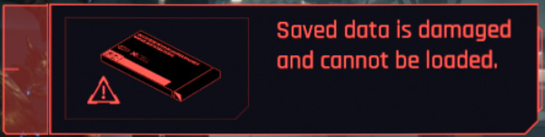 cyberpunk 2077 corrupted save data