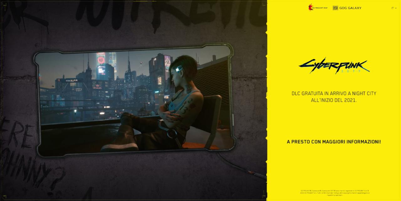 Cyberpunk 2077, slitta l'arrivo del primo DLC gratuito?