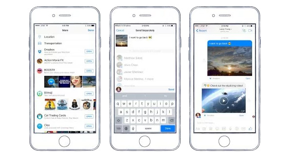Dropbox su Facebook Messenger