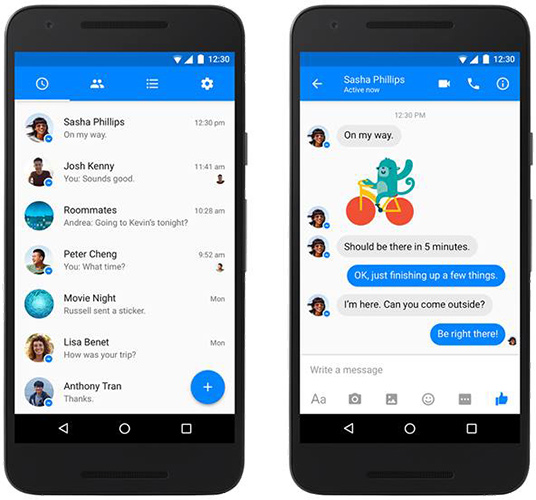Facebook Messenger, nuova UI