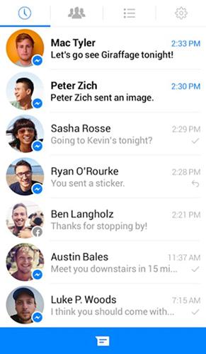 Facebook Messenger, vecchia UI