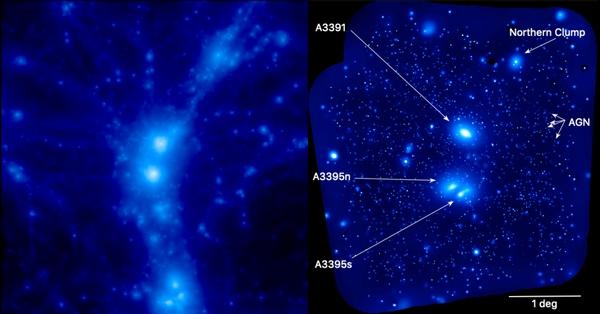 filamenti cosmici dell'universo