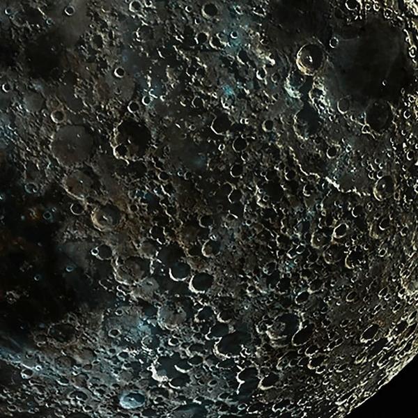 dettaglio fotografia luna