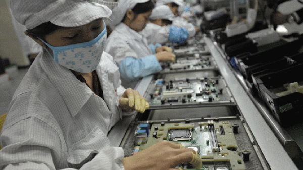 Lavoratori in Foxconn