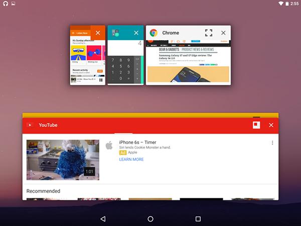 Android N, modalità Freeform