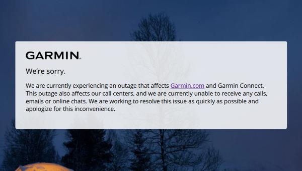 Garmin offline a causa di un attacco hacker