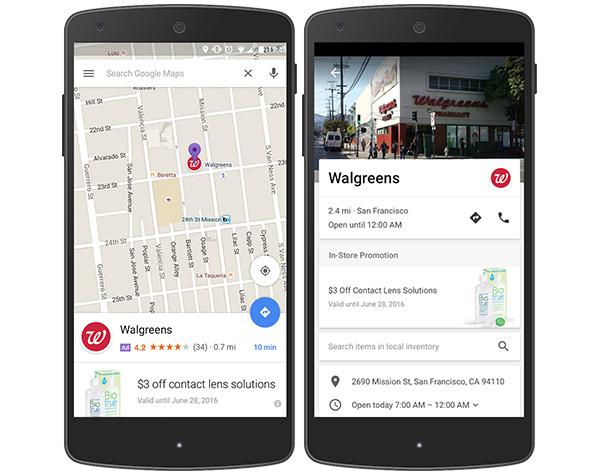 Nuove pubblicità su Google Maps