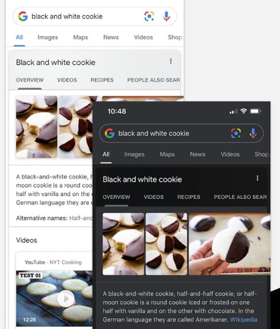 google search dark mode ufficiale