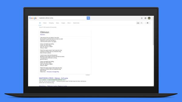 Google, testi dei brani musicali