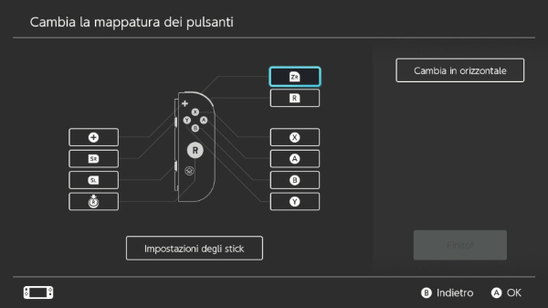nintendo switch rimappatura tasti pulsanti joycon firmware 10