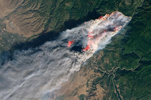 NASA California wildfire