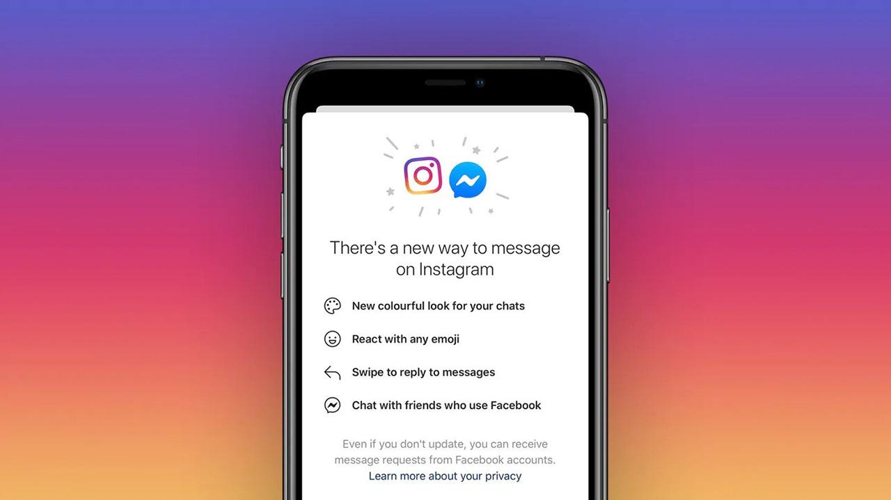 Se ricevi questo messaggio puoi unire le chat di Instagram e Messenger