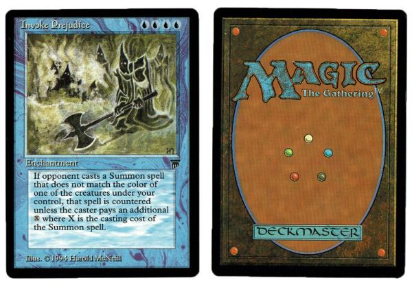 magic the gathering invoke prejudice racist