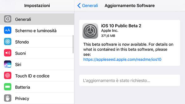 iOS 10 Public Beta 2