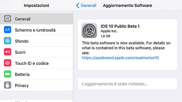 iOS 10 Public Beta 1