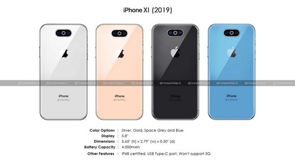Apple iPhone XI 2019 design leak