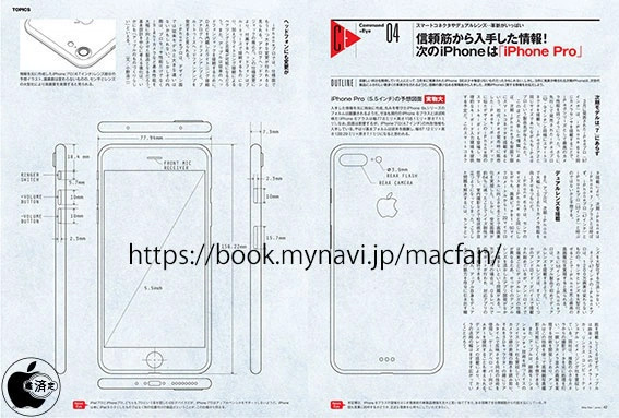 iPhone 7 Pro, bozzetti di produzione
