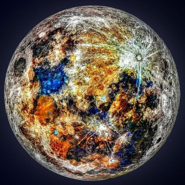 fotografia Luna minerale