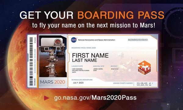 Mars 2020 pass name