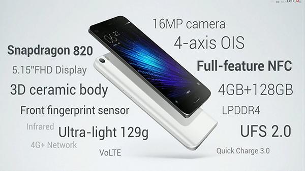 Xiaomi MI 5, specifiche tecniche