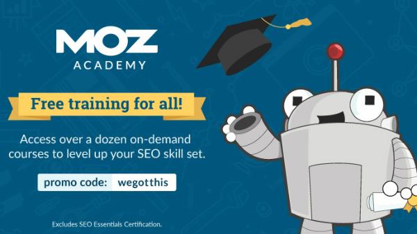 moz academy promo corsi online