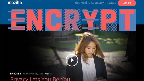 Mozilla, importanza della crittografia