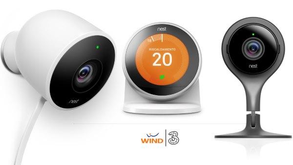 """annuncio congiunto di Nest e del neonato operatore Wind Tre. I clienti Wind e Infostrada possono acquistare i nuovi prodotti Nest per la Smart Home attraverso la formula """"Accessorio Incluso"""""""