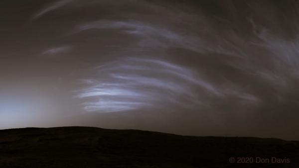 NASA marte nuvole