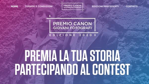 premio canon giovani fotografi 2020