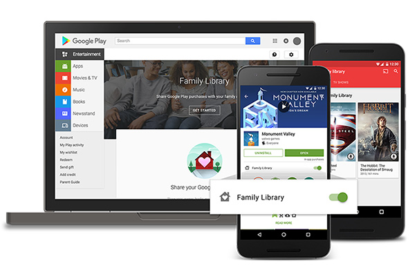 Raccolta della Famiglia su Google Play Store