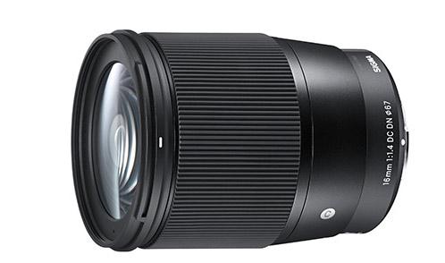 annuncio dello sviluppo del nuovo obiettivo SIGMA 16mm F1.4 DC DN Contemporary