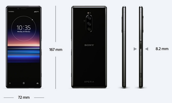 Sony Xperia 1: arriving in Italy from June 2019