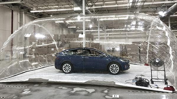 Tesla Model X, filtro HEPA