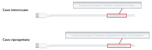 Cavo USB Type-C del MacBook, programma di sostituzione