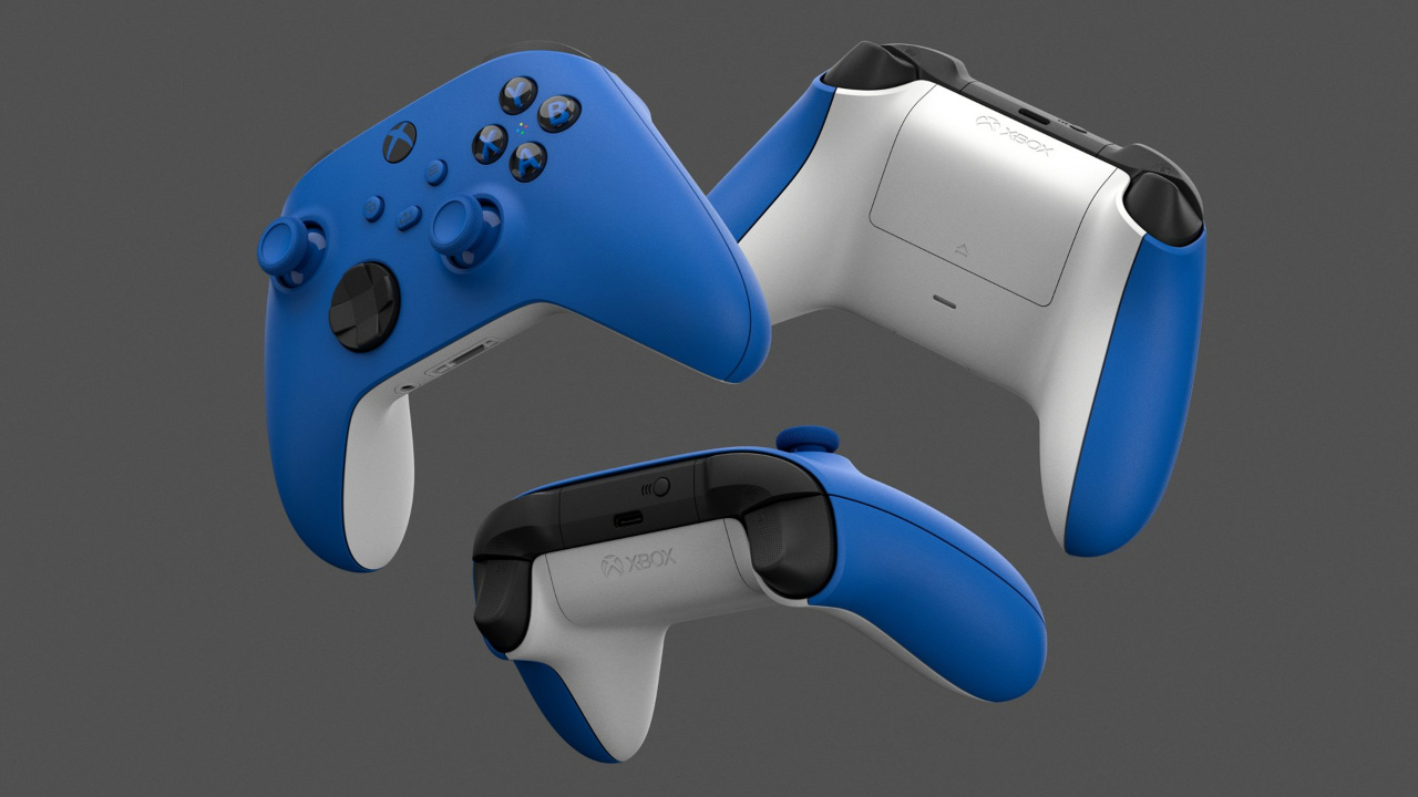 xbox wireless controller shock blue series x
