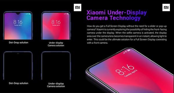 Xiaomi fotocamera sotto al display