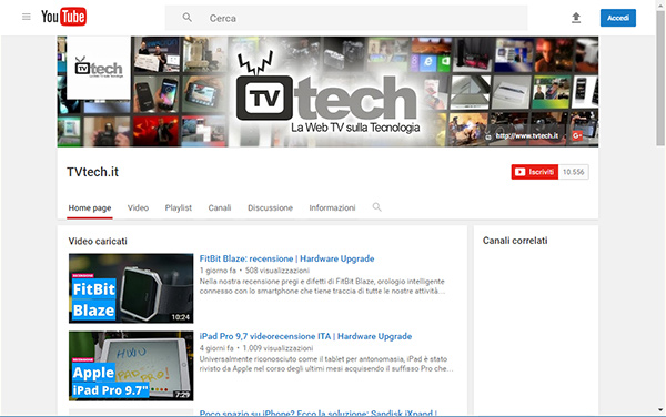 YouTube, vecchio design