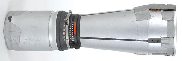 Obiettivo 500mm utilizzato nella Luna